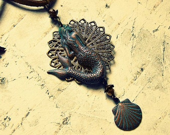 Siren Necklace, Siren Jewels, Siren Jewelry, Mermaid Necklace, Mermaid Accessories, Mermaid Gifts, Mermaid At Heart, Ready To Ship