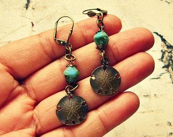 Sand Dollar Earrings, Sand Dollar Jewelry, Sandollar Earrings, Sanddollar Earrings, Sealife Earrings, Beach Jewelry, Laguna Collection