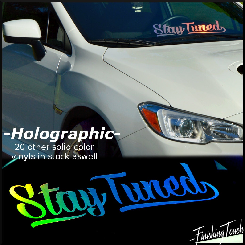 Silver Holographic HOONIGAN Decal Sticker Car Or Truck - Custom stickers for cars windshield