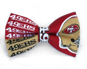SF 49ers Bow Tie | NFL Bow Tie | Bowtie | Football Bow Tie | For Him | Gift for Him | Sports Bow Tie | NFL | San Francisco