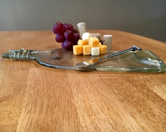 Wine bottle cheese plate