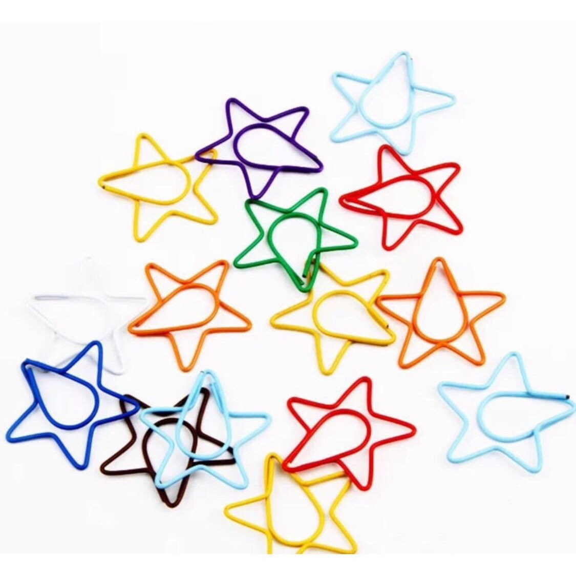 how to make star shaped paper clips