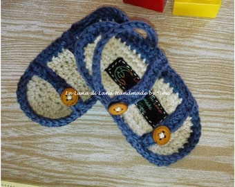 Flat cotton crochet summer boy