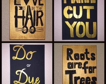 Hair stylist canvases