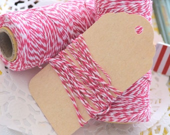 Cotton RASPBERRY PINK Twine/ Gift Wrapping Twine/10metres