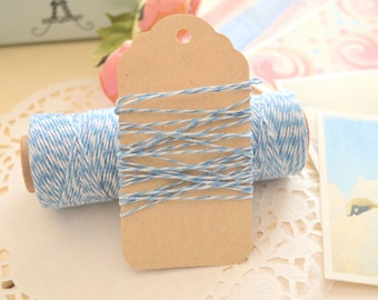 Cotton BABY BLUE Bakers Twine/ Gift Wrapping Cotton Twine/ 10metres