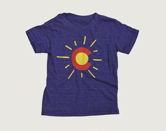 Sunny Colorado Kids Tee