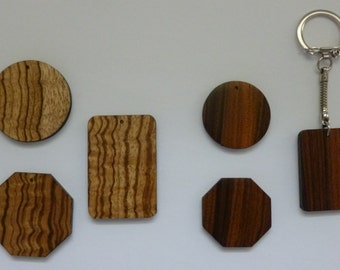 Exotic Wood Key Chain or Pendant