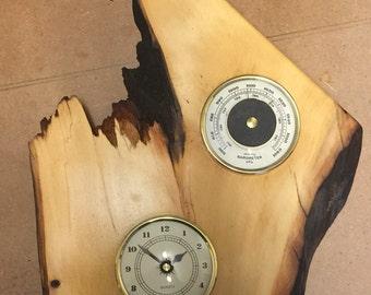 Large Huon Pine mantle clock art peice