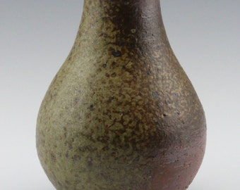 Kazegama Fired, Ash Glazed Bud Vase