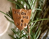 TOUCH ME & DIE Lapel Pin // Touch Me and Die // Misandry Designs // Lapel Pin // Fuck Off Badge // Pin // Queer Gifts // Feminist Gifts