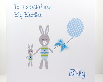 New Big Brother Card Personalised With Brothers Name