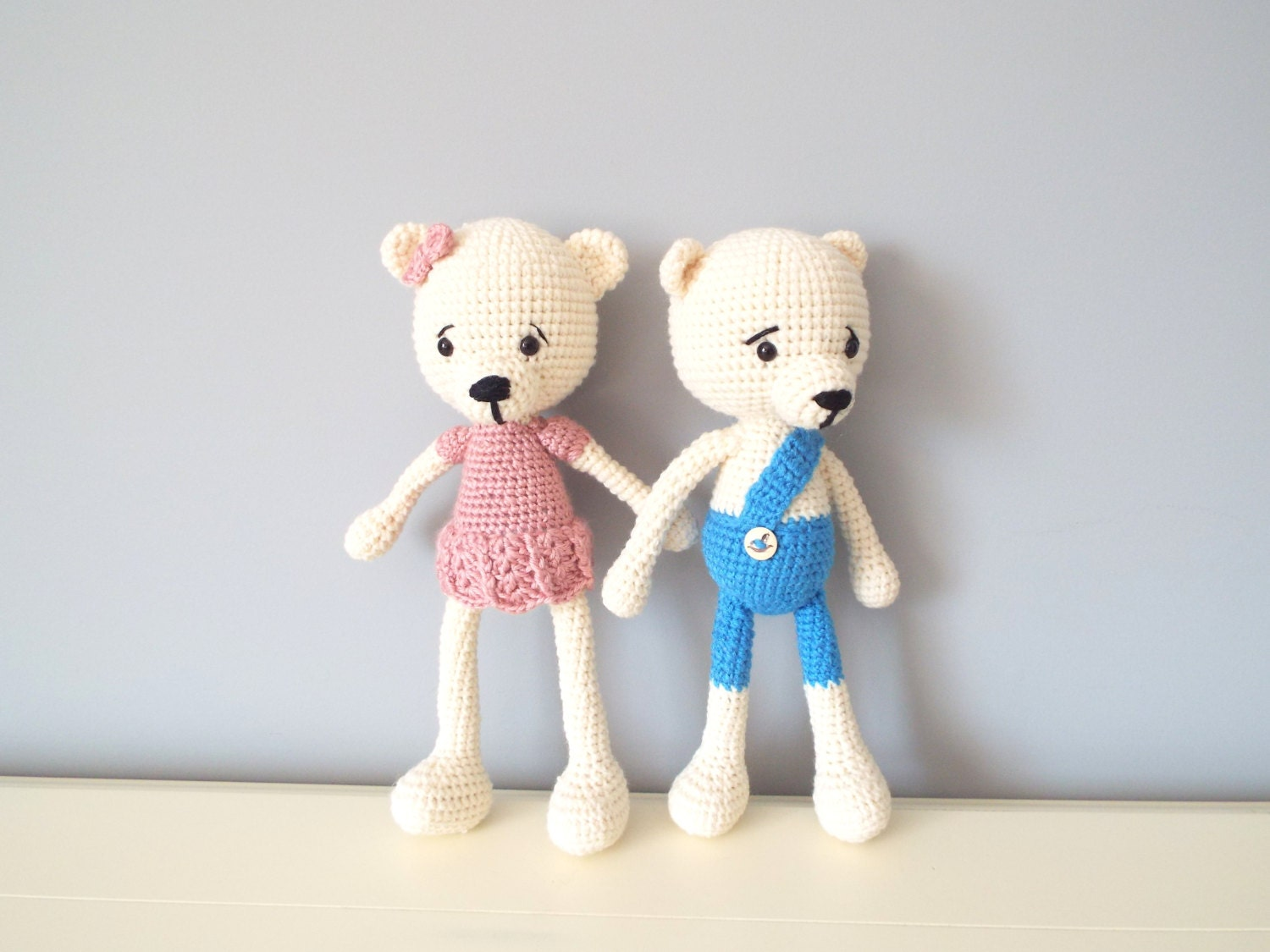 Amigurumi Baby Shower Bears : Crochet knitted Teddy bear Girls Amigurumi Gift ideas Baby ...