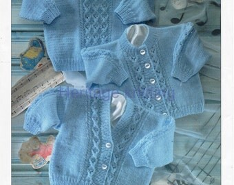baby boys sweater and cardigans dk knitting pattern 99p pdf