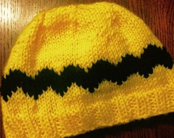 Charlie Brown Beanie with Zig Zag Pattern