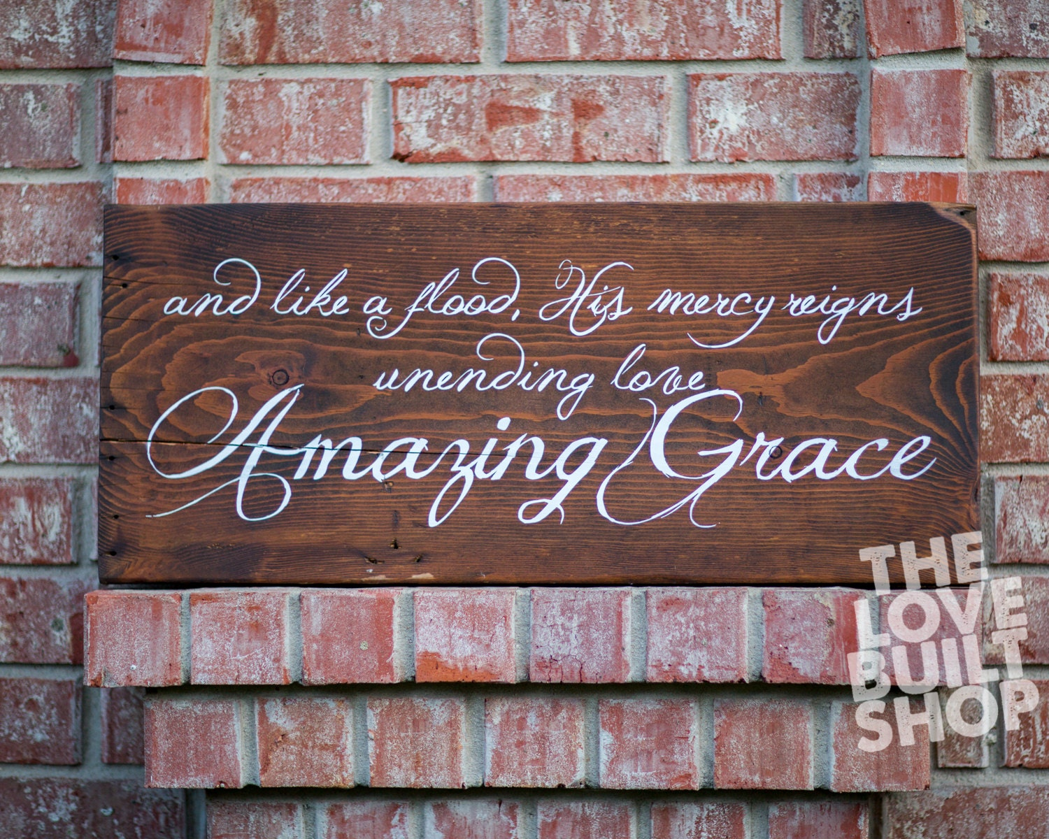 christian decor amazing rustic grace wood sign song religious