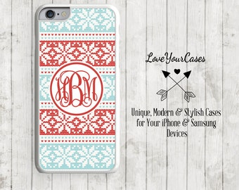 iPhone 6s Case, iPhone 6 Case, iPhone 6 Plus Case, iPhone 5 Case, iPhone 5c Case, Personalized iPhone, Christmas Knit, Christmas Phone, 150