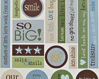 ChitChat Boy-Themed Cardstock Die Cut Stickers, Scrapbook Pages, Scrapbooking, Scrapbook Albums, Scrapbook Stickers, Memory Book