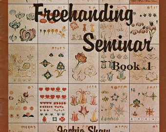 Jackie's Freehanding Seminar Bk.1, Vintage Tole Painting Pattern Book, Painting Techniques, Brush Strokes Tutorial, Learn To Paint