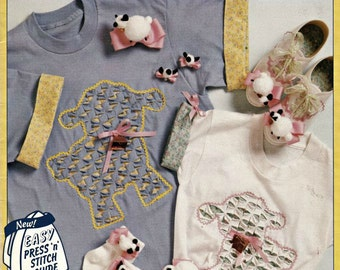 McCalls Creates Lambs & Bunnies, T-Shirt Embroidery Patterns, Transfer Patterns, Embroidery Patterns, Embellishments, Applique Patterns