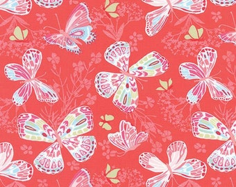 MODA - Aria Butterfly - 27230 11 - Kate Spain  - Butterflies - Begonia - Pink - Red