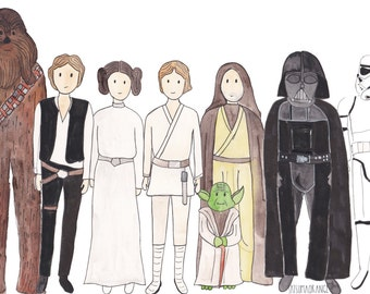 Star Wars inspired characters collection print