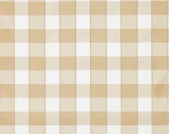 SCALAMANDRE CHELSEA SILK Check Fabric 10 Yards Flax