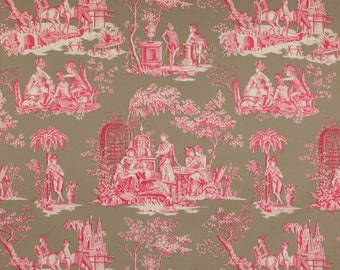 MANUEL CANOVAS BALLEROY French Toile Fabric 10 Yards Azalee