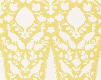 SCHUMACHER CHENONCEAU FRENCH Toile Linen Fabric 10 yards Buttercup