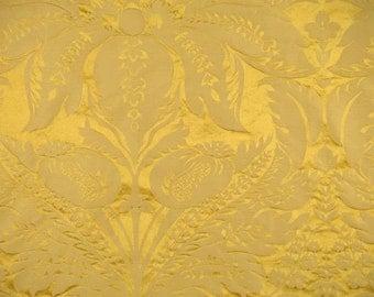 SCALAMANDRE Newport Damask Silk Fabric 10 Yards Vermeil