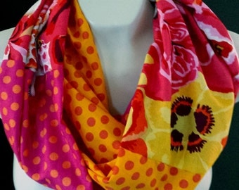 Kaffe Fassett Infinity scarf #71---buy 3 and pay shipping for one (6.10)--at checkout use coupon code shipfee610 and save 12.20.