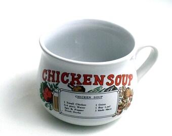 Vintage Mug Vintage Recipe Chicken Soup Recipe Mug Vintage Kitchen Vintage Home Vintage Dining Vintage Dishes Vintage Cup Soup Cup Cooking