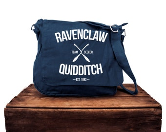 Ravenclaw Quidditch Navy Messenger Bag