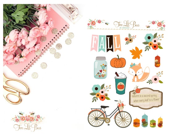 FALL039 // Pumpkin Spice : Decorating Stickers for your Life Planner