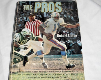 The Pros, by Robert Liston, Illustrated by Jo Polseno, 1968, Sports