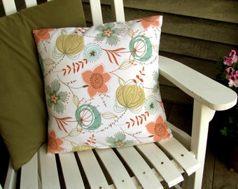 "Peachy Keen Throw Pillow 18"" x 18"""
