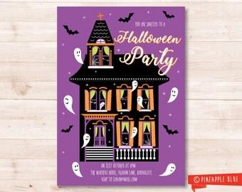 Halloween party invitation | Kids invitation | Halloween party invite | Custom party invite | Kids halloween invitation printable