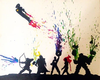 Avengers melted crayon