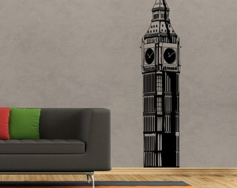 Wall decal Big Ben, London sticker, Vinyl wall sticker, Wall stencil, Wall decor