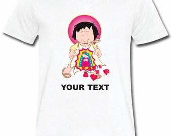 Juan Diego T-shirt V-Neck Tee Vapor Apparel with a FREE custom text(optional)