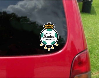 2 Pieces Santos Laguna  Futbol Mexico  Decals Stickers Full Color/Weather Proof. U.S.A Free Shipping