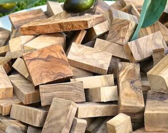 Smoking wood Olive /Chunks olive wood BBQ (1 kg)