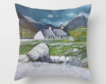 Scottish landscape art -throw pillow - scottish scenery - cushion cover