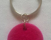 Aroma Diffuser Tag - Simple Hot Pink Small Collar Tag