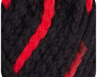 hatnut-gaudy Hat wool black red 91