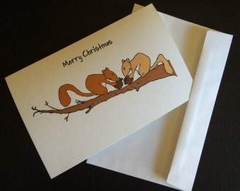 Squirrel Gifts (10 Cards & Envelopes)