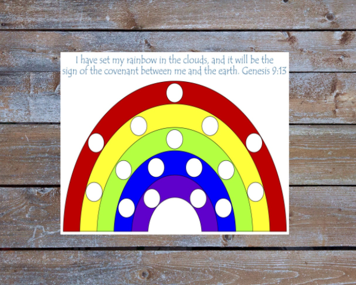 Printable color matching games for preschoolers - Rainbow Pom Pom Color Matching Preschool Activity Game Preschool Printable Activities Preschool Game Sunday School Game Genesis 9 13