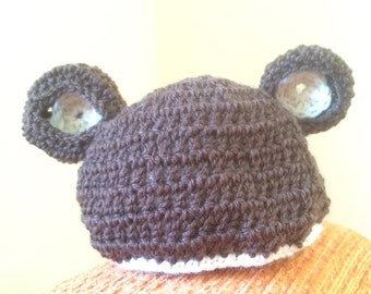 Teddy bear baby bonnet-hatbear crochet