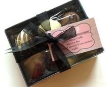 Mixed Truffles 6 Box, artisan truffle box, gourmet chocolate, hand-ribboned box of truffles, hand made chocolate, chocolate gift, hand made