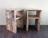 reclaimed wood nightstands night stand end...